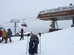 Top of the Colorado Superchair lift at Breckenridge Ski Resort