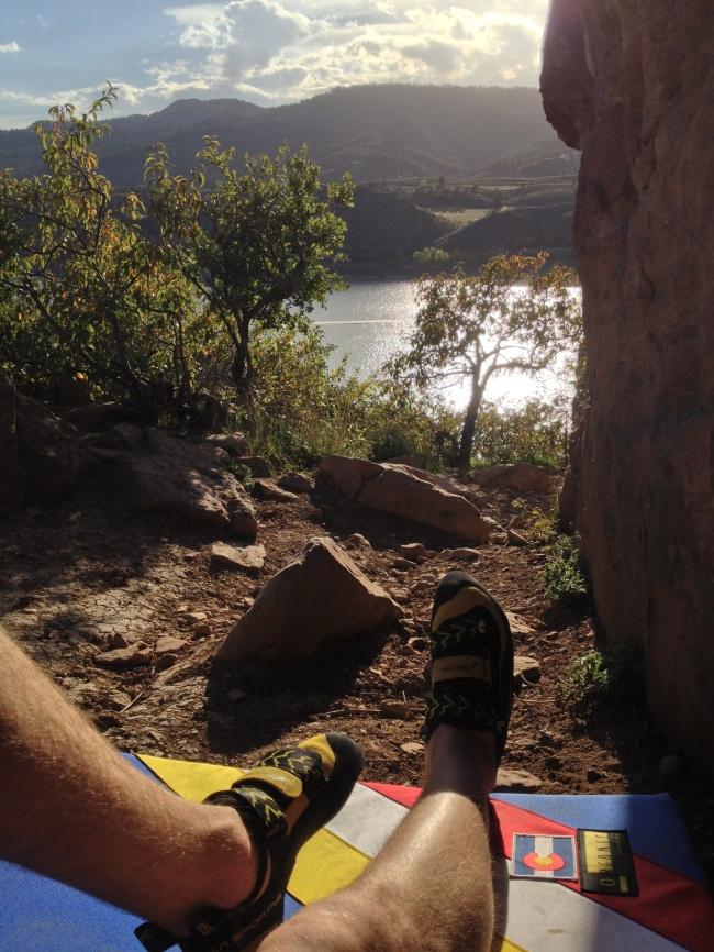 Bouldering at Horsetooth Resevoir