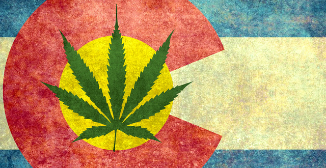 Colorado Flag Pot Leaf