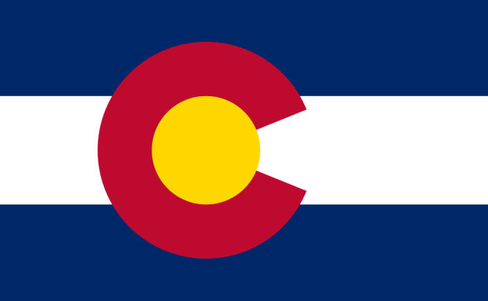 Colorado flag graphic high res