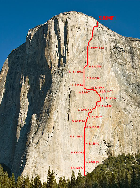 The Dawn Wall route