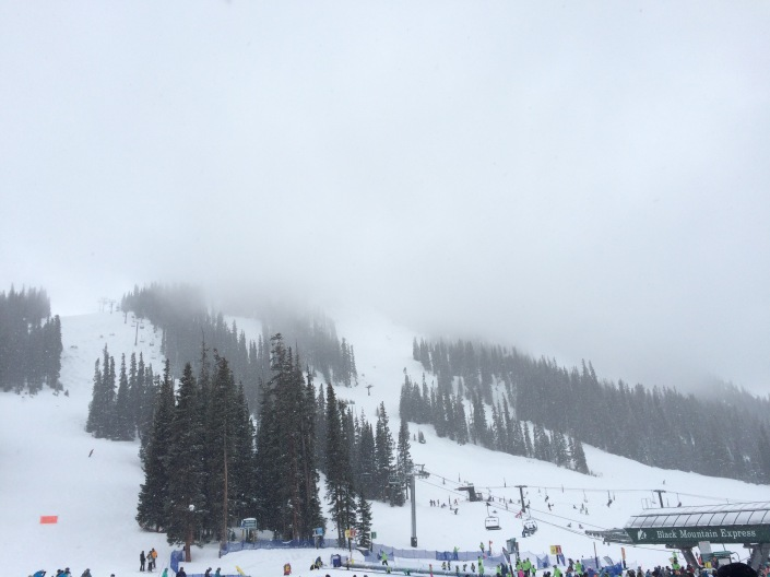 A-basin ski area whiteout