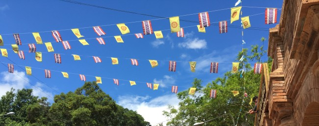 Doi Suthep Thailand Prayer Flags car port