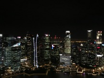 Singapore skyline at night from up high