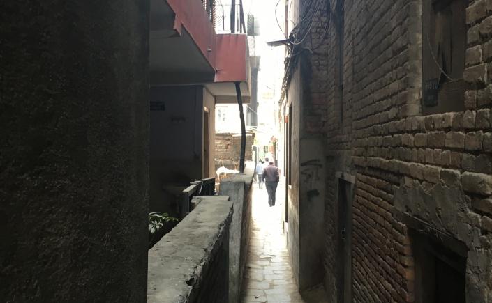 Narrow alleys in Kathmandu