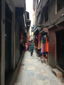 Narrow Kathmandu alley
