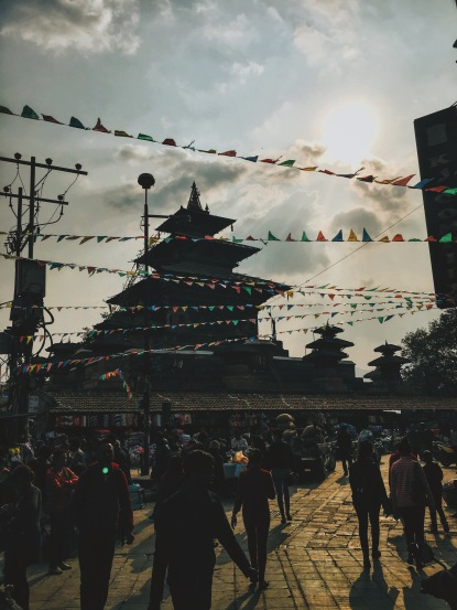 Kathmandu Durbar Square prayer flags