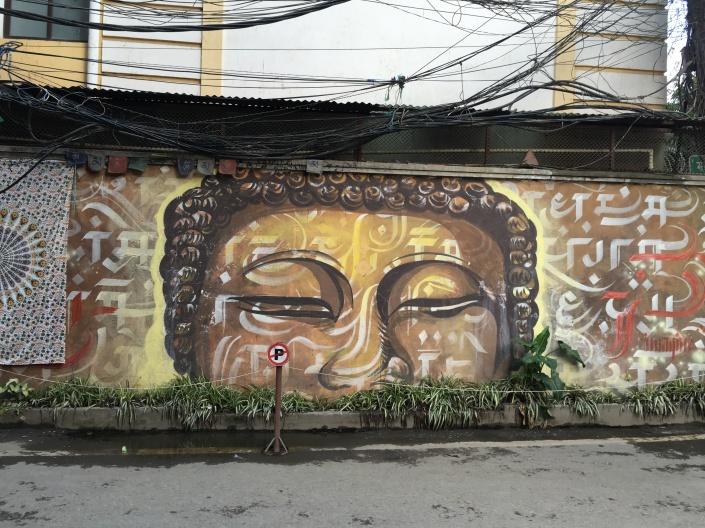 buddha street art Kathmandu