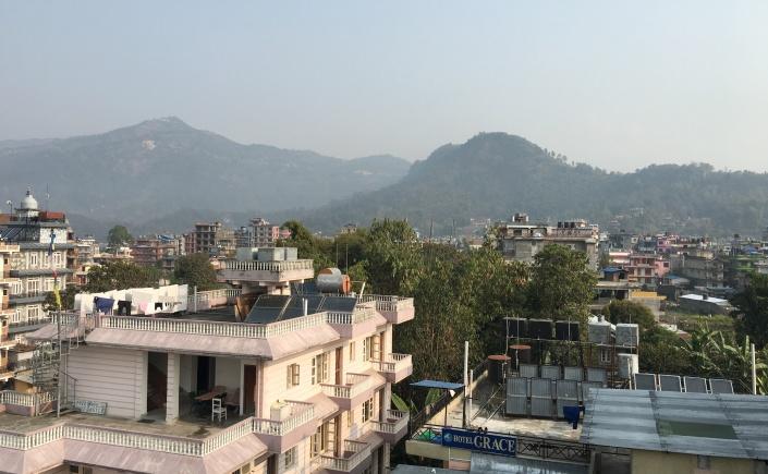 Hazy pokhara nepal