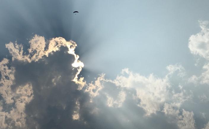 Sunbeams flying