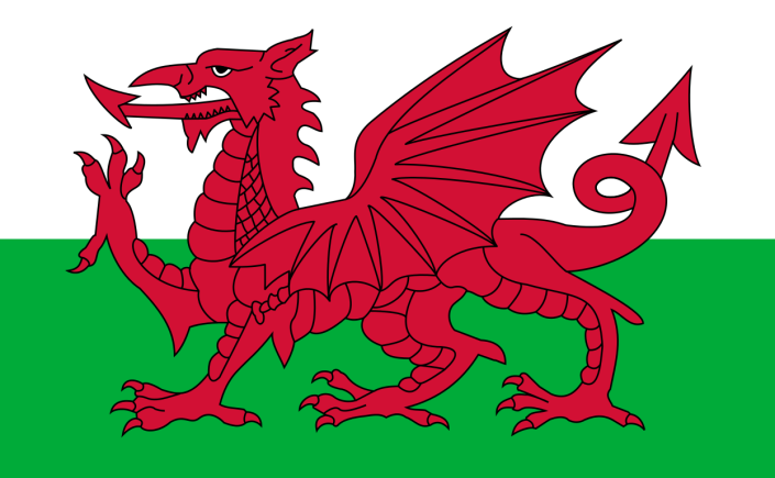 High-resolution Welsh flag