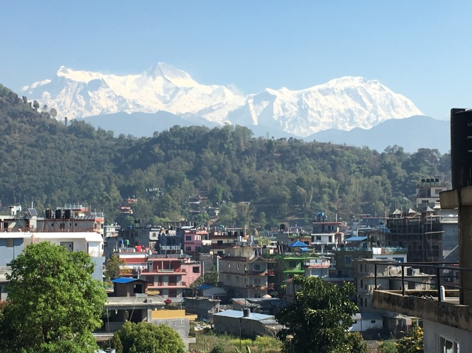 Annapurna Mountains Behind Pokhara