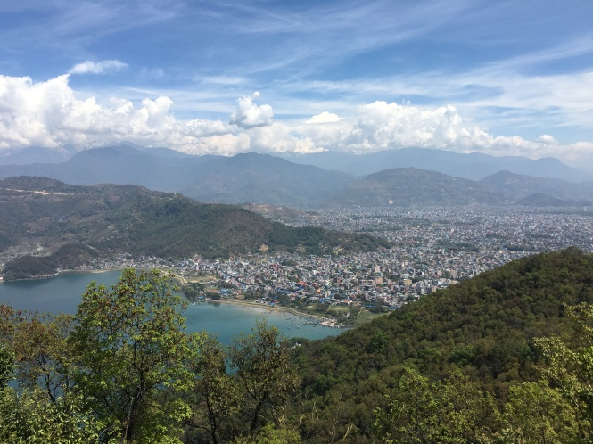Lakeside Pokhara from the stupa