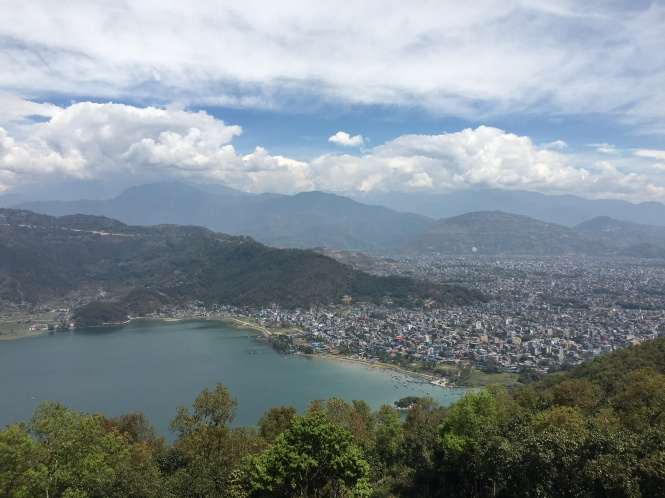 Pokhara View From the Stupa