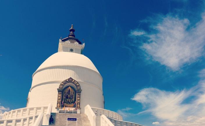 The Stupa in Pokhara, Nepal