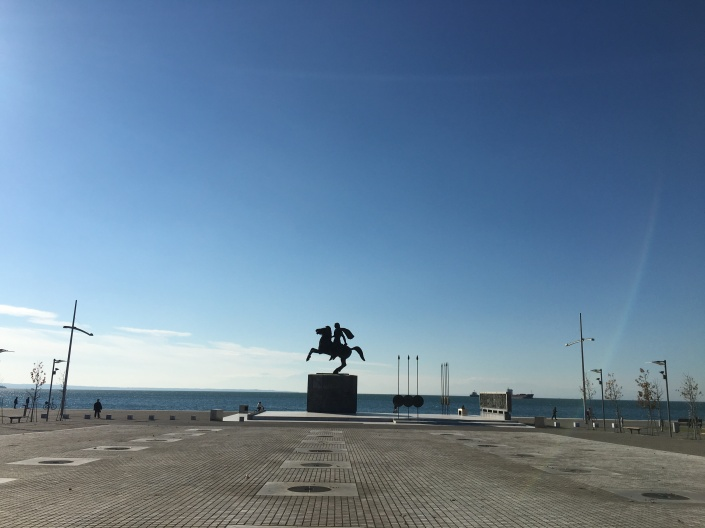 Greek statues Thessaloniki