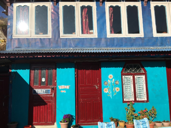 Colorful houses nepal