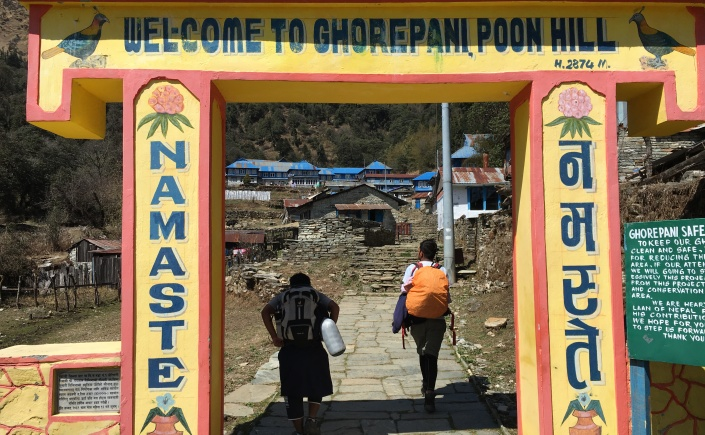 Ghorepani Entrance Trekking Gate