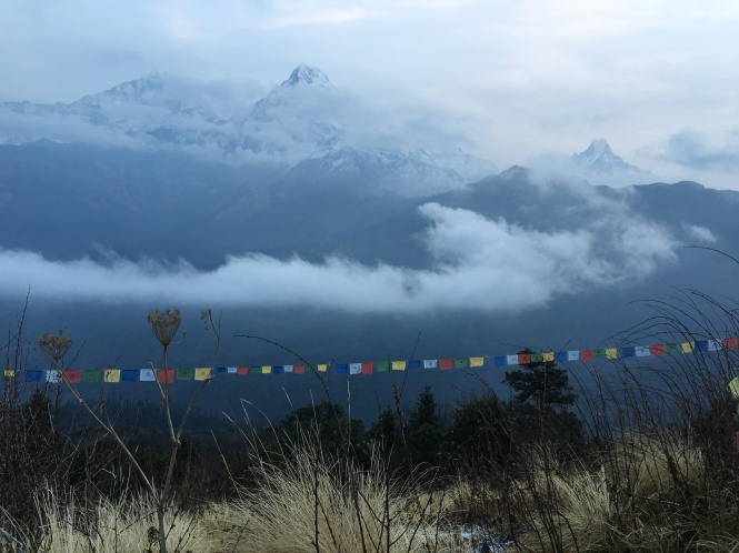 Tibetan Prayer flags Poon Hill Nepal Trekking