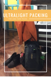 Ultralight Packing For Long Term Travel