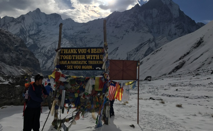 Back of Sign at Annapurna Base Camp