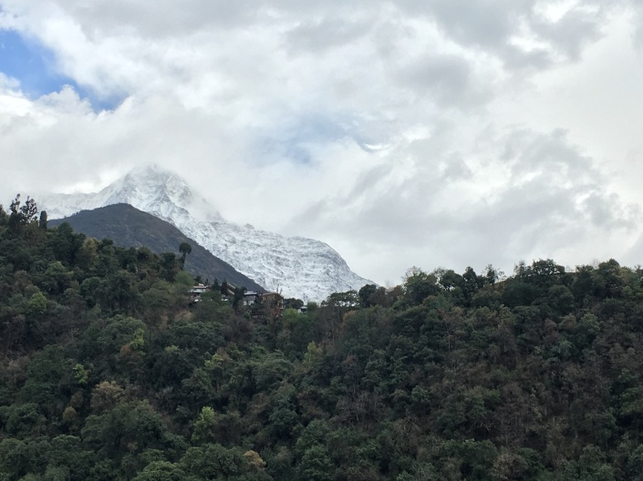 Annapurna Seen from Jihnudanda on Annapurna Base Camp Trek
