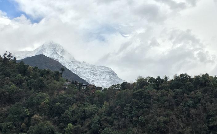 Annapurna Seen from Jihnudanda on Annapurna Base Camp Trek