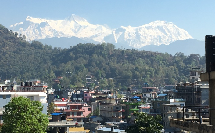 Photos of Pokhara with Himalayas