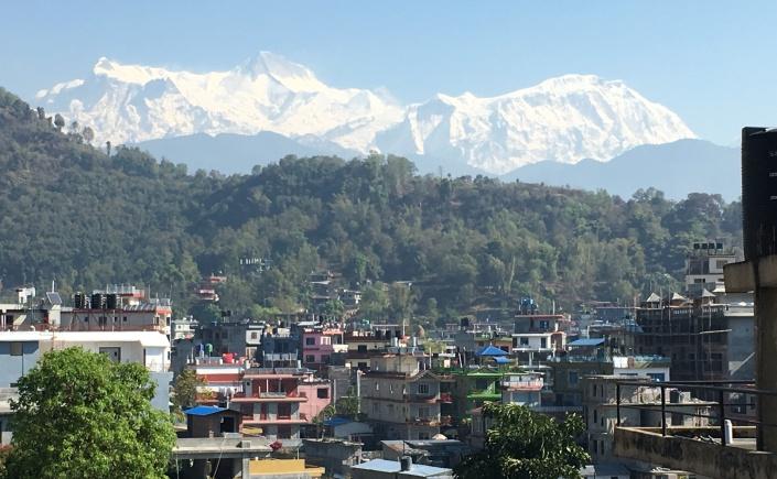 Photos of Pokhara with Himalayas