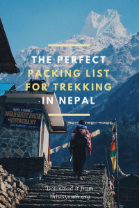 The Perfect Packing List for Trekking in Nepal