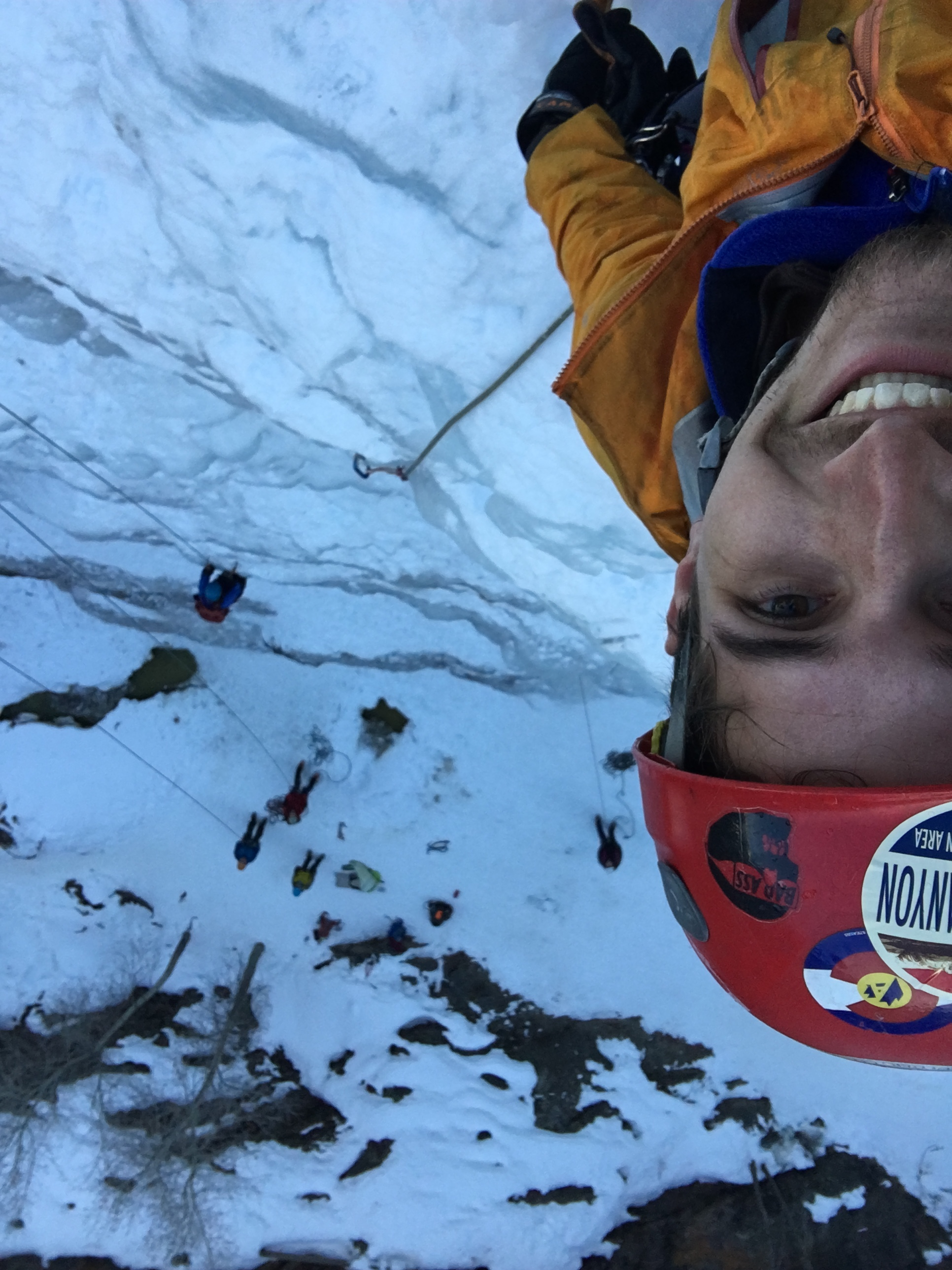 Ice Climbing Lead Climbing Selfie Ouray