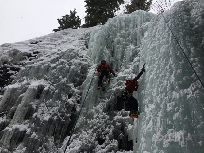 Top rope ice climbing colorado mountains